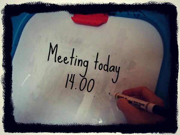 Meeting white board