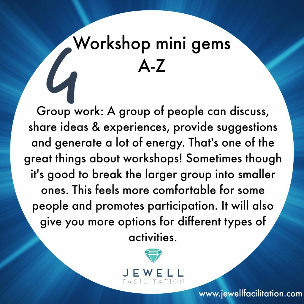 The A-Z of Workshop minigems Part 2 – Group work to Listening